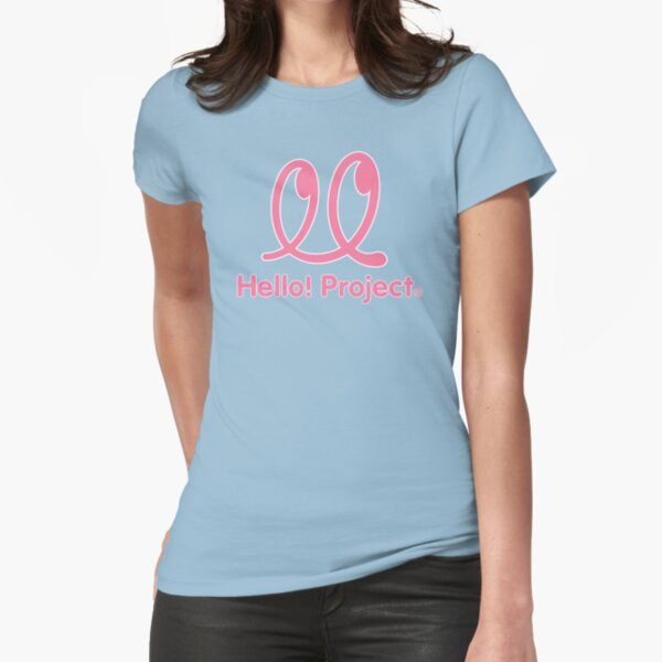 Hello Project Old School Logo - Pink/White Fitted T-Shirt