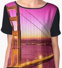 Golden Gate Love Bridge Women's Chiffon Top