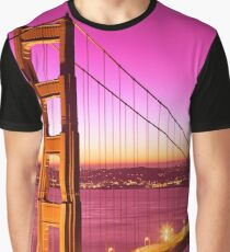 Golden Gate Love Bridge Graphic T-Shirt