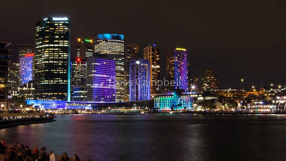 Sydney City at Night by Ross Campbell