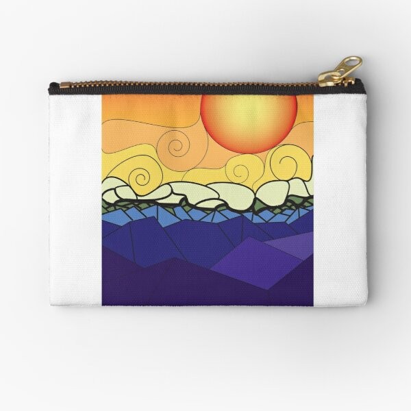 Stained Glass Sunset Zipper Pouch