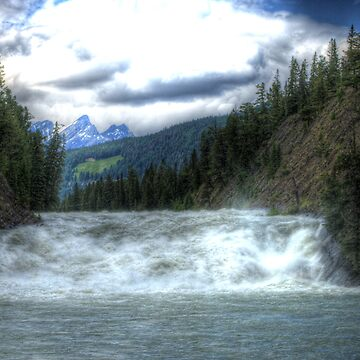 Bow River Waterfall in Banff (HDR) by eadnams