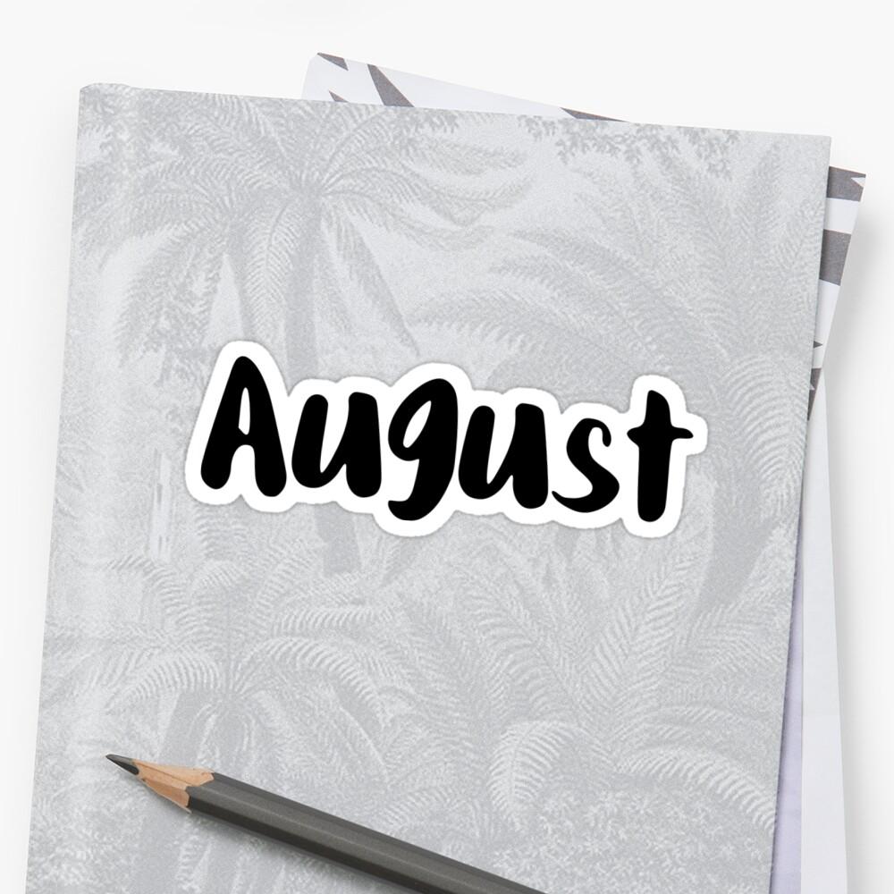 August Sticker Front