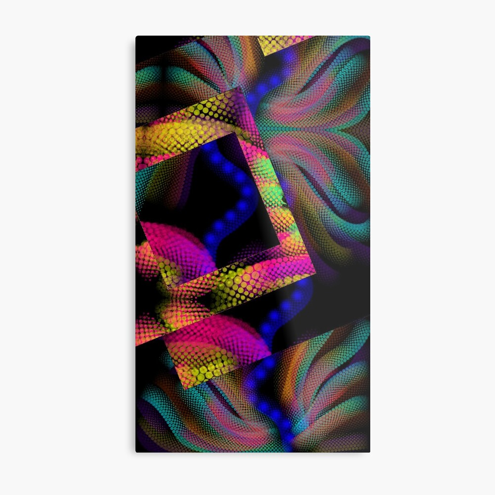 Whimsical Majestic Sea Abstract design Metal Print