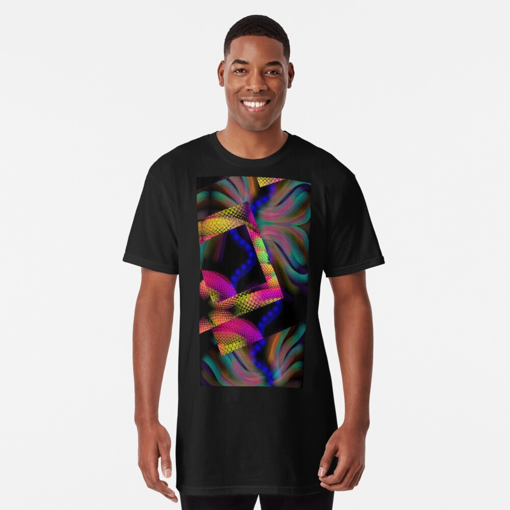 Whimsical Majestic Sea Abstract design Long T-Shirt