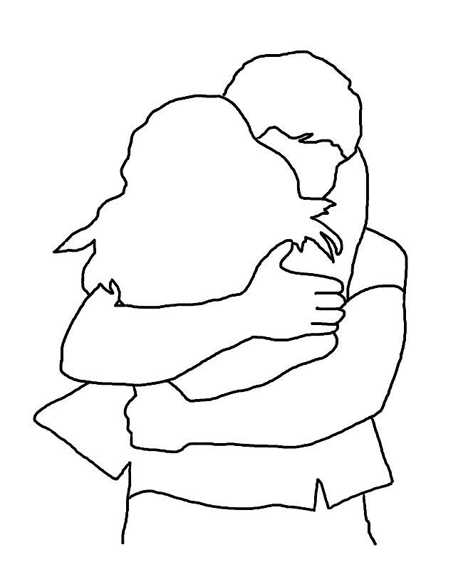 bellamy x clarke hug sticker by kathyhemm