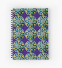 Sacred  Pacman Geometry Spiral Notebook