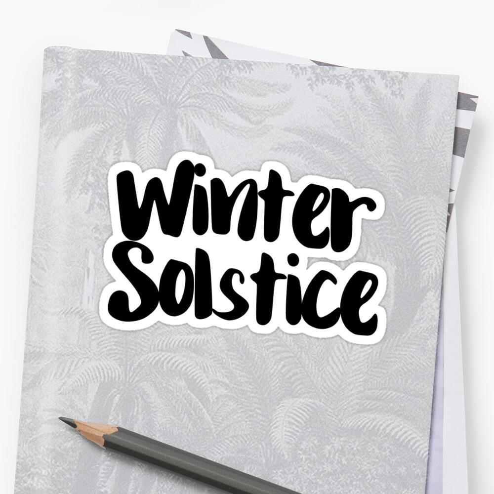 Winter Solstice Sticker Front