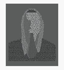 Eminem Lyric Portrait Photographic Print