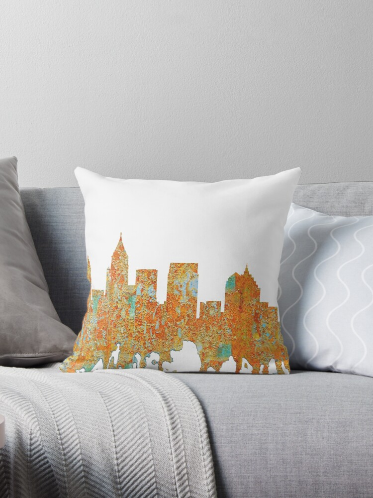 Atlanta, Georgia Skyline - Rust by Marlene Watson