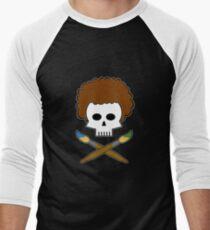 Bob Ross Skull Men's Baseball ¾ T-Shirt