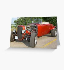 A Street Rod... a throw back to a wild time.... The Good Old Days Greeting Card