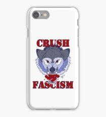 """""""Crush Fascism"""" Wolf iPhone Case/Skin"""