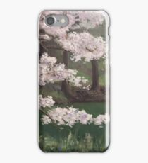 Cherry Blossoms by the Lake  iPhone Case/Skin