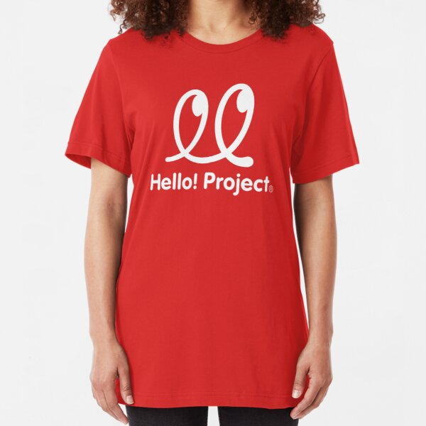 Hello Project Old School Logo - White Slim Fit T-Shirt