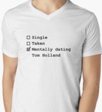 Mentally Dating - Tom Holland Men's V-Neck T-Shirt