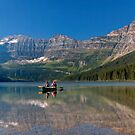 Canoeing on Cameron Lake. by Alex Preiss