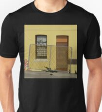 0154 Fenced off yellow derelict house T-Shirt