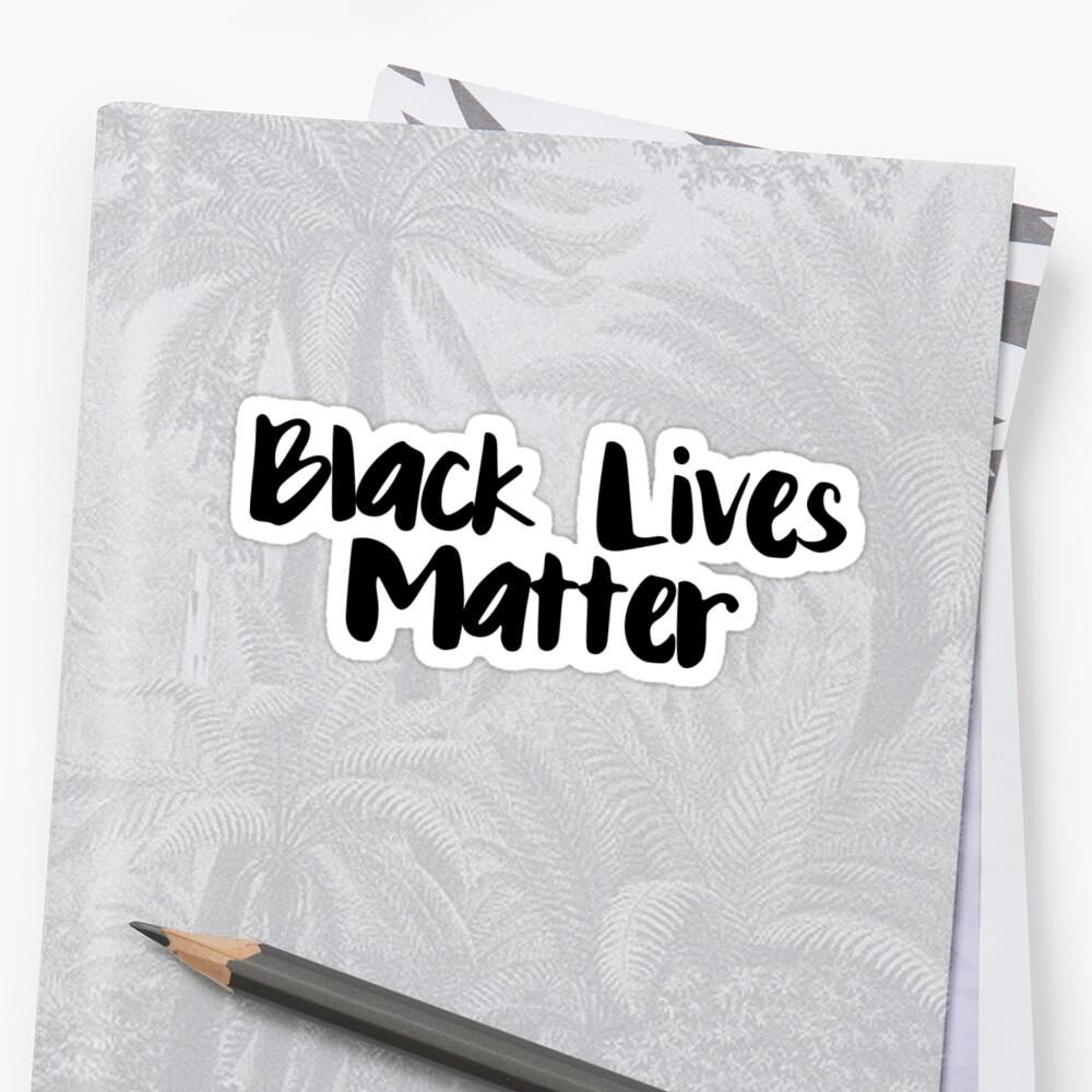 Black Lives Matter Sticker Front