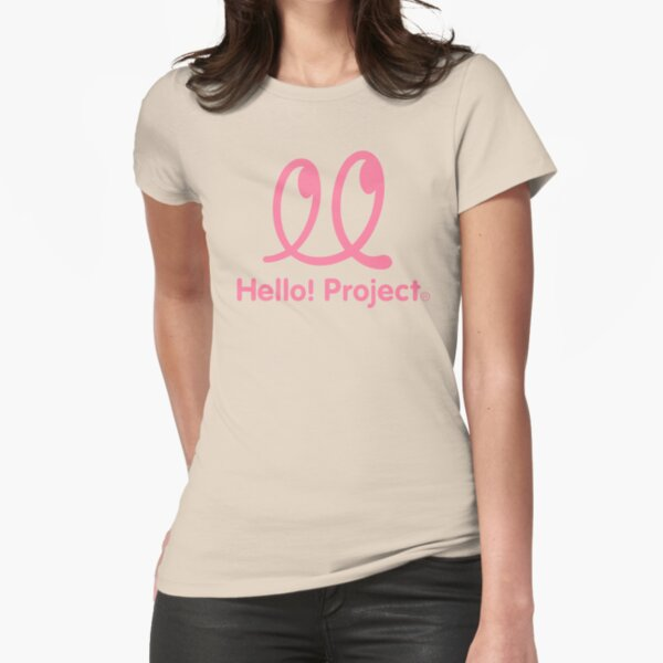 Hello Project Old School Logo - Pink Fitted T-Shirt