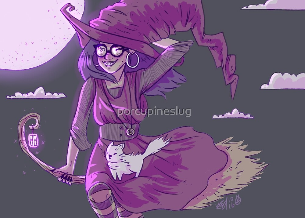 Not so spooky witch by porcupineslug