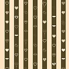Cute Heart Modern Donkey Brown Stripes Pattern by Nhan Ngo