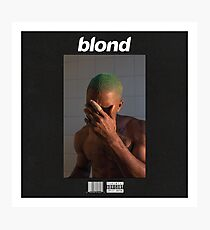 Frank Ocean- Blond (Black) Photographic Print
