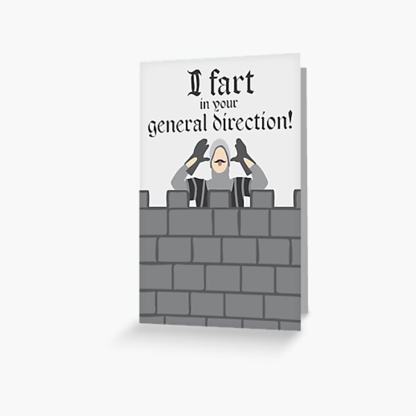 French Taunting Guard Greeting Card