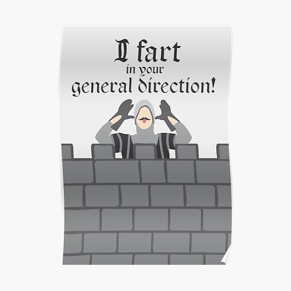 French Taunting Guard Poster