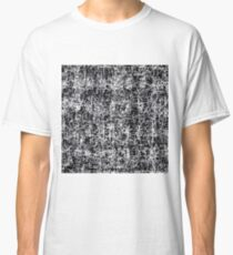 psychedelic abstract art texture background in black and white Classic T-Shirt