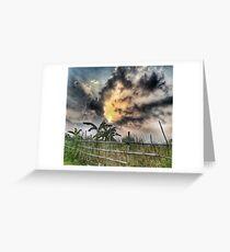 Sunset Photography Dark Rural Creepy Spooky Design Greeting Card