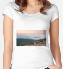 Cadillac Mountain at sunrise Women's Fitted Scoop T-Shirt