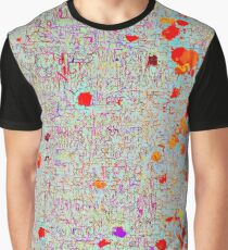 psychedelic abstract art texture background in orange pink red Graphic T-Shirt