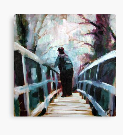 On the Bridge Canvas Print