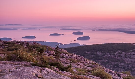 Grindstone Neck at sunrise, Schoodic Peninsula, by PhotoStock-Isra