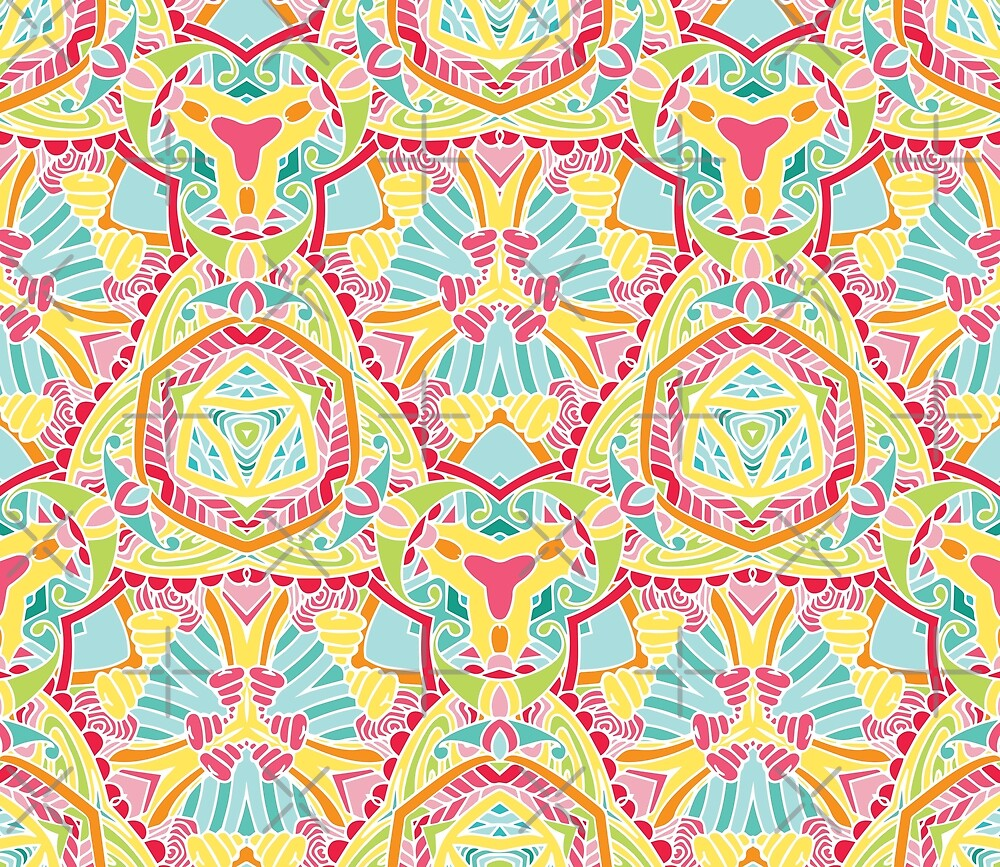 Bright colored abstract pattern by Zand