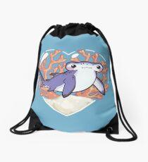 NIBBLE the Hammerhead Shark Drawstring Bag