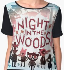 night in the woods Women's Chiffon Top