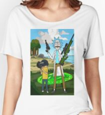 Rick and Morty x Battlegrounds  Women's Relaxed Fit T-Shirt