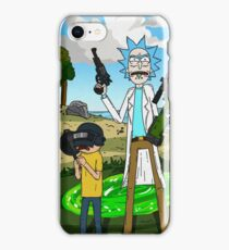 Rick and Morty x Battlegrounds  iPhone Case/Skin