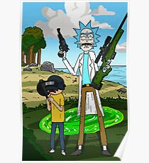 Rick and Morty x Battlegrounds  Poster
