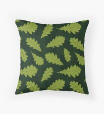 Pattern of autumn oak leaf Throw Pillow