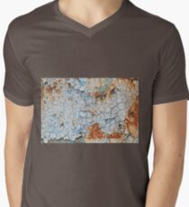 Background of peeling blue paint on an iron wall T-Shirt