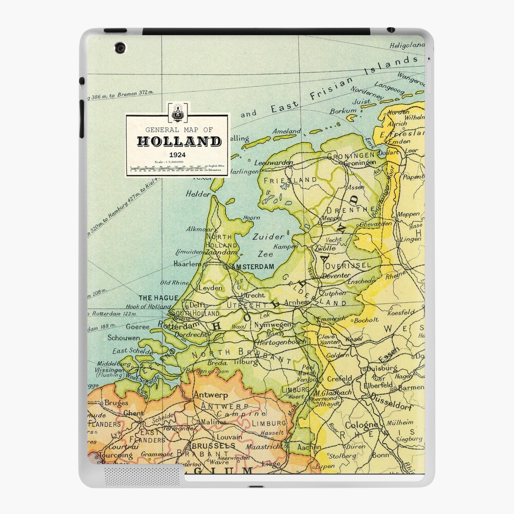 Vintage Holland Map Netherlands Map Birthday Gift Wedding Gift Ipad Case Skin By Mappendant Redbubble