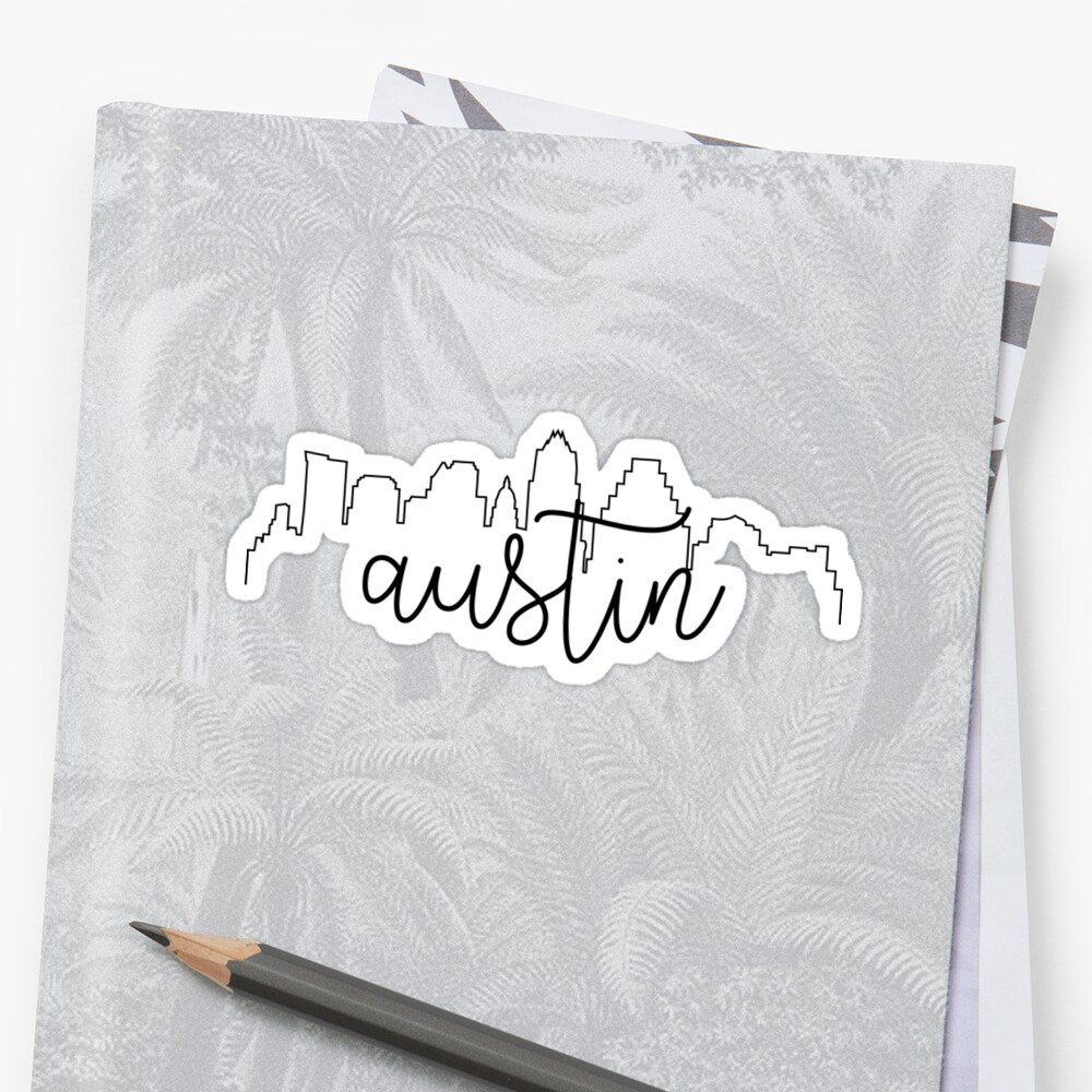 cityscape outline - austin by arielledesigns
