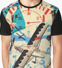 COLLAGE #plane Flugzeug Graphic T-Shirt