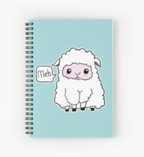Meh. Sheep of Indifference Spiral Notebook