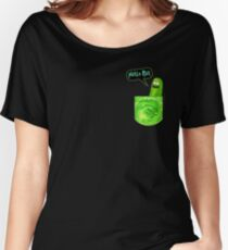 Pickle rick pocket Women's Relaxed Fit T-Shirt