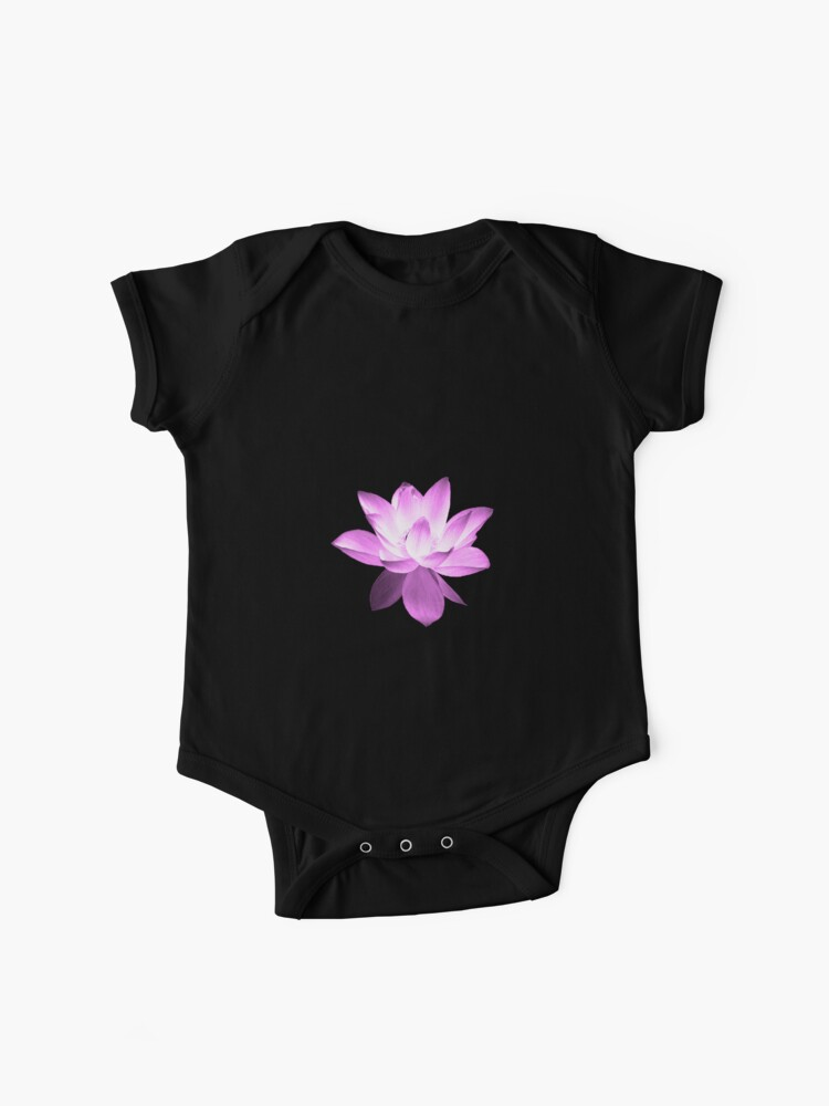 7 Day S Of Summer Yoga Zen Range Pink Lotus Baby One Piece By Vansprang Redbubble