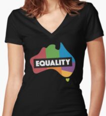"""say """"I do"""" down under Women's Fitted V-Neck T-Shirt"""